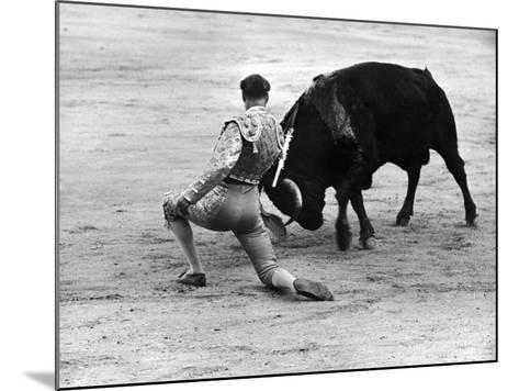 Matador Julian Marin and Bull in the Ring for a Bullfight During the Fiesta de San Ferman-Tony Linck-Mounted Premium Photographic Print