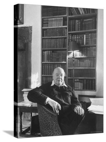 Portrait of Winston Churchill in His Study at Chartwell-Alfred Eisenstaedt-Stretched Canvas Print
