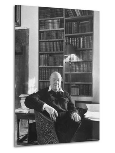 Portrait of Winston Churchill in His Study at Chartwell-Alfred Eisenstaedt-Metal Print