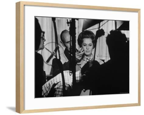 """Actress Tippi Hedren Testing for Hitchcock's New Movie, """"Marnie,"""" at Universal Studios-John Dominis-Framed Art Print"""