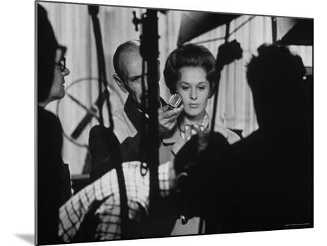"""Actress Tippi Hedren Testing for Hitchcock's New Movie, """"Marnie,"""" at Universal Studios-John Dominis-Mounted Premium Photographic Print"""
