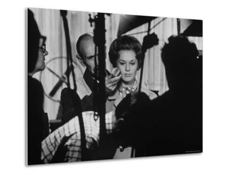 """Actress Tippi Hedren Testing for Hitchcock's New Movie, """"Marnie,"""" at Universal Studios-John Dominis-Metal Print"""