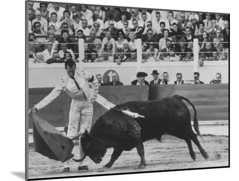 Matador Luis Miguel Dominguin During Bullfight-James Burke-Mounted Premium Photographic Print