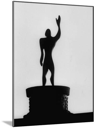 """Statue of """"Le Modulor,"""" by Le Corbusier's Ratio of Architectural Design in Relation to Human Figure-James Burke-Mounted Photographic Print"""