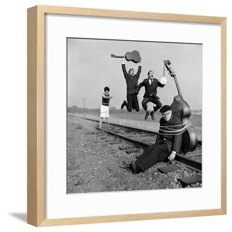 """The Whiskey Hill Singers, Singing One of Their Songs, """"Railroad Bill""""-Ralph Crane-Framed Art Print"""