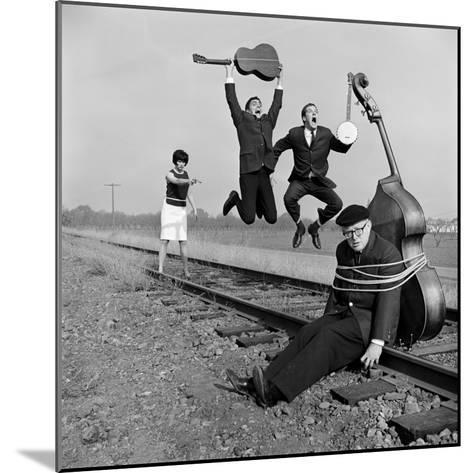 """The Whiskey Hill Singers, Singing One of Their Songs, """"Railroad Bill""""-Ralph Crane-Mounted Premium Photographic Print"""