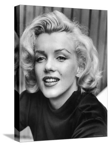 Actress Marilyn Monroe at Home-Alfred Eisenstaedt-Stretched Canvas Print