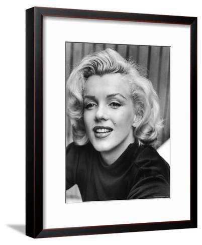 Actress Marilyn Monroe at Home-Alfred Eisenstaedt-Framed Art Print