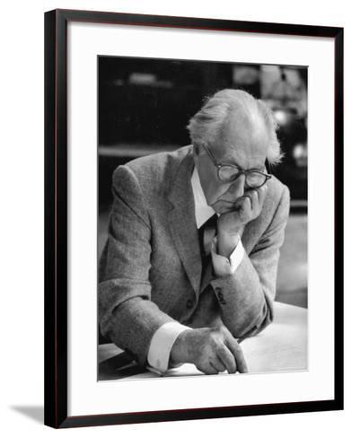 Architect Frank Lloyd Wright at Work at Taliesin-Alfred Eisenstaedt-Framed Art Print