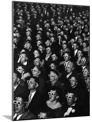 """3-D Movie Viewers during Opening Night of """"Bwana Devil""""-J^ R^ Eyerman-Mounted Photographic Print"""