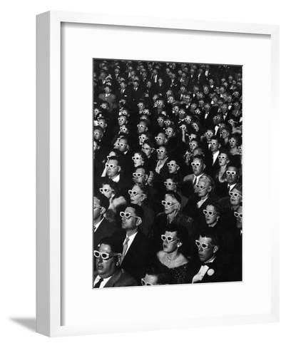 "3-D Movie Viewers during Opening Night of ""Bwana Devil""-J^ R^ Eyerman-Framed Art Print"