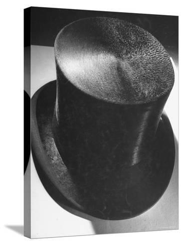 Silk Top Hat Showing Properties of Smooth and Rough Nap Which Are Principles Used in Camouflage-Dmitri Kessel-Stretched Canvas Print