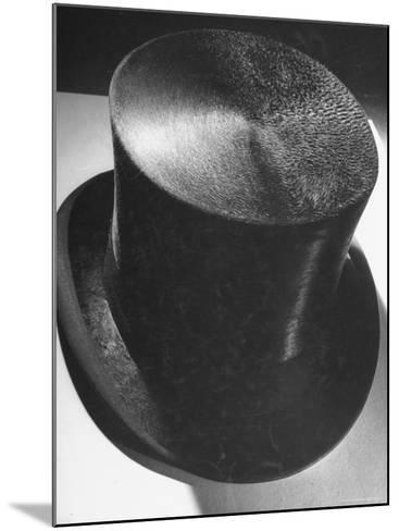 Silk Top Hat Showing Properties of Smooth and Rough Nap Which Are Principles Used in Camouflage-Dmitri Kessel-Mounted Photographic Print