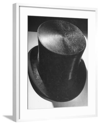 Silk Top Hat Showing Properties of Smooth and Rough Nap Which Are Principles Used in Camouflage-Dmitri Kessel-Framed Art Print