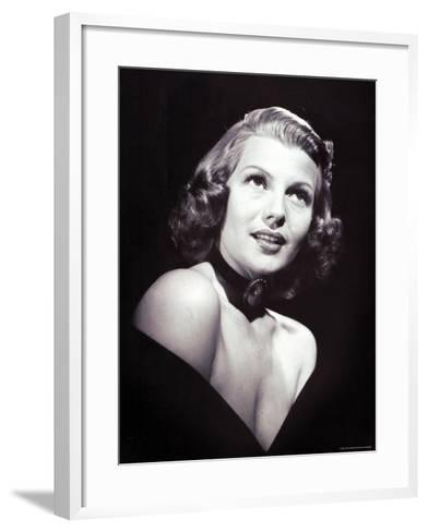 Movie Star Rita Hayworth, the Love Goddess of the Cinema-John Florea-Framed Art Print