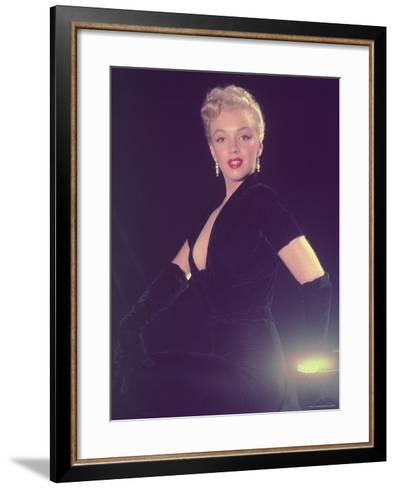 Portrait of Starlet Marilyn Monroe-Ed Clark-Framed Art Print