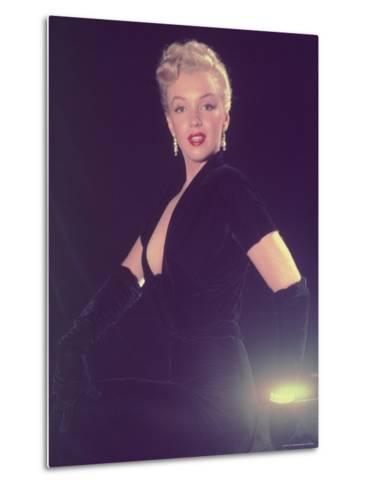Portrait of Starlet Marilyn Monroe-Ed Clark-Metal Print