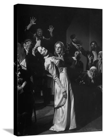 Scenes from the Dybbuk, a Production by the Habimah Players of Israel-Nina Leen-Stretched Canvas Print