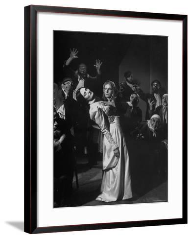 Scenes from the Dybbuk, a Production by the Habimah Players of Israel-Nina Leen-Framed Art Print