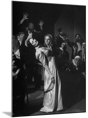 Scenes from the Dybbuk, a Production by the Habimah Players of Israel-Nina Leen-Mounted Premium Photographic Print