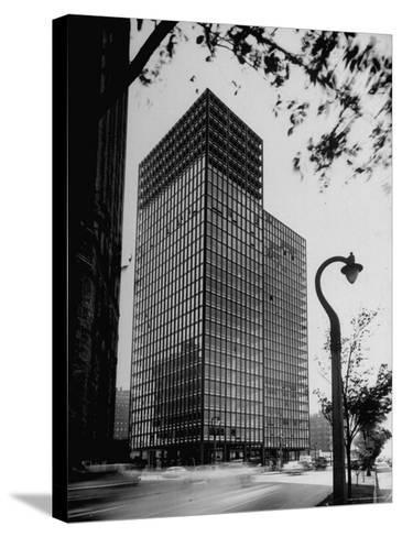 View of Mies Van Der Rohe's Glass Walled Apartment house in Chicago-Ralph Crane-Stretched Canvas Print