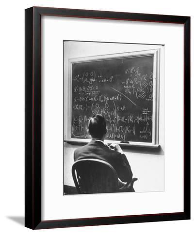 Richard Schafer, an Expert in the Field of Non Associative Algebras, Studying Complicated Formulas-Alfred Eisenstaedt-Framed Art Print
