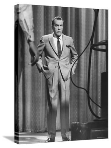 TV Showman, Ed Sullivan-Yale Joel-Stretched Canvas Print