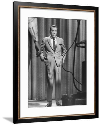 TV Showman, Ed Sullivan-Yale Joel-Framed Art Print