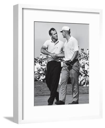 Golfer Jack Nicklaus and Arnold Palmer During National Open Tournament-John Dominis-Framed Art Print