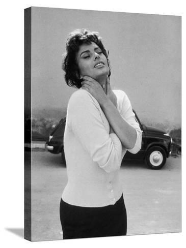 Actress Sophia Loren Displaying a Wide Range of Emotions-Loomis Dean-Stretched Canvas Print
