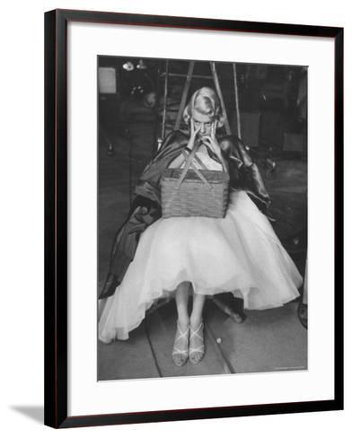 "Actress, Rosemary Clooney on Her TV Show Rehearsing Part of ""Red Riding Hood Skit""-Leonard Mccombe-Framed Art Print"