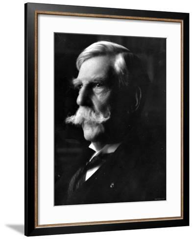 Portrait of Oliver Wendell Holmes, American Jurist and Associate Justice of the U.S. Supreme Court--Framed Art Print