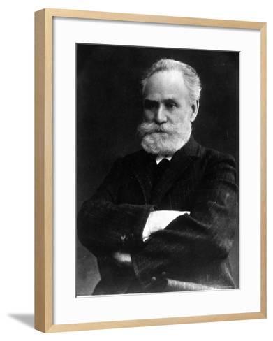Portrait of Ivan Pavlov, Russian Physiologist and Experimental Psychologist--Framed Art Print