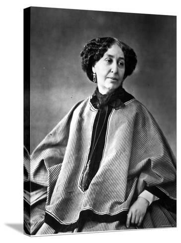 Portrait of George Sand, French Novelist--Stretched Canvas Print