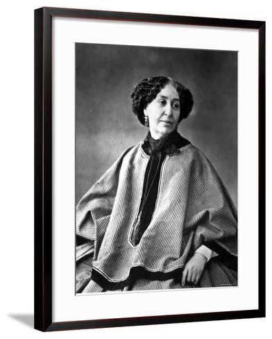 Portrait of George Sand, French Novelist--Framed Art Print