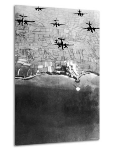 Douglas A-20 Havocs of US 9th Army Air Force Bombing German Coastal Defenses--Metal Print