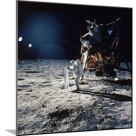 "Apollo 11 Astronaut Buzz Aldrin Unfurling ""Solar Wind Sheet""--Mounted Photographic Print"