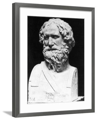 Greek Mathematician, Engineer, and Physicist Archimedes Famous for Invention, the Archimedean Screw--Framed Art Print