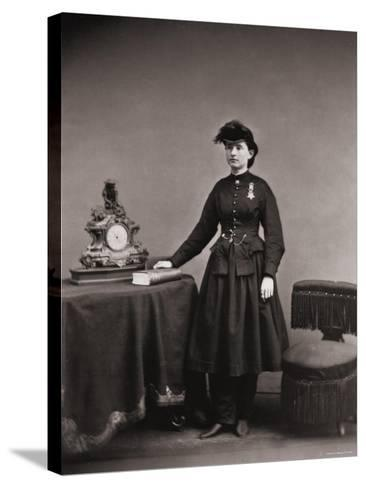 Dr. Mary Walker, Only Female Recipient, with Medal of Honor Awarded Service During the Civil War--Stretched Canvas Print