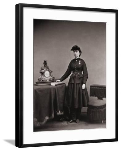 Dr. Mary Walker, Only Female Recipient, with Medal of Honor Awarded Service During the Civil War--Framed Art Print