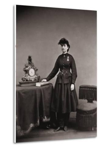 Dr. Mary Walker, Only Female Recipient, with Medal of Honor Awarded Service During the Civil War--Metal Print