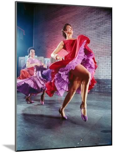 Chita Rivera and Liane Plane Dancing in a Scene from the Broadway Production of West Side Story-Hank Walker-Mounted Premium Photographic Print
