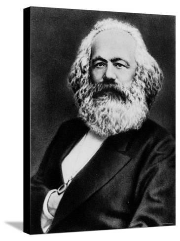 Copy from Photogravure of German Born Political Economist and Socialist Karl Marx--Stretched Canvas Print