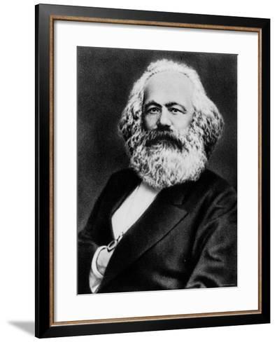 Copy from Photogravure of German Born Political Economist and Socialist Karl Marx--Framed Art Print