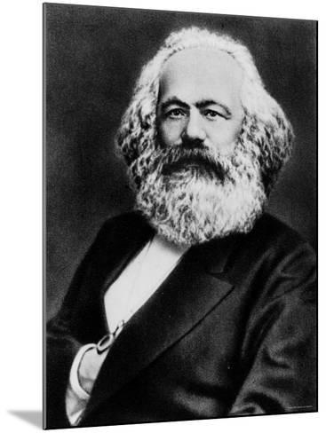 Copy from Photogravure of German Born Political Economist and Socialist Karl Marx--Mounted Premium Photographic Print