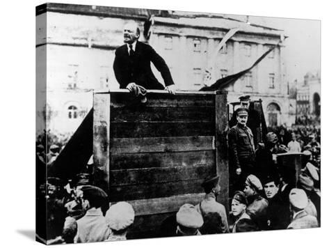 Russian Revolutionary Leader Vladimir Lenin--Stretched Canvas Print