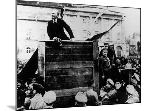 Russian Revolutionary Leader Vladimir Lenin--Mounted Premium Photographic Print