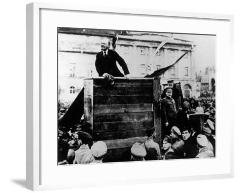 Russian Revolutionary Leader Vladimir Lenin--Framed Art Print