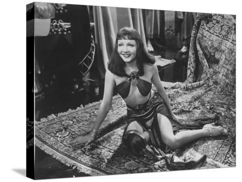 """Claudette Colbert in Title Role of Cecil B. DeMille's Film """"Cleopatra.""""--Stretched Canvas Print"""