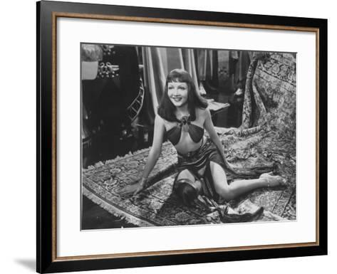 """Claudette Colbert in Title Role of Cecil B. DeMille's Film """"Cleopatra.""""--Framed Art Print"""
